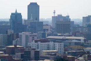 Centrum Harare - hlavního města Zimbabwe
