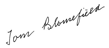 Podpis Tom Blomefield