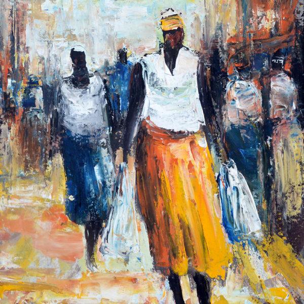 Barry Lungu: obraz Cestou z trhu I