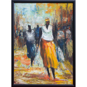 Barry Lungu: obraz Cestou z trhu