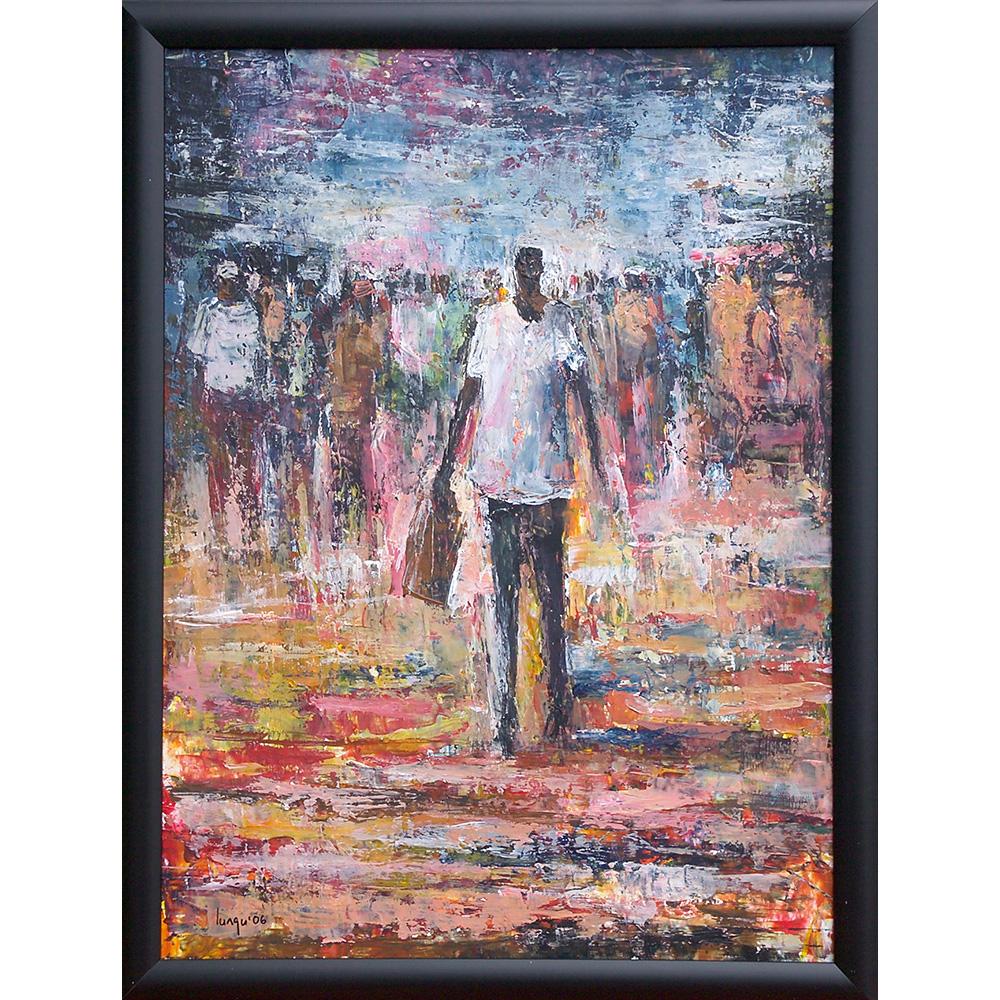 Barry Lungu: obraz Muž s nákupem