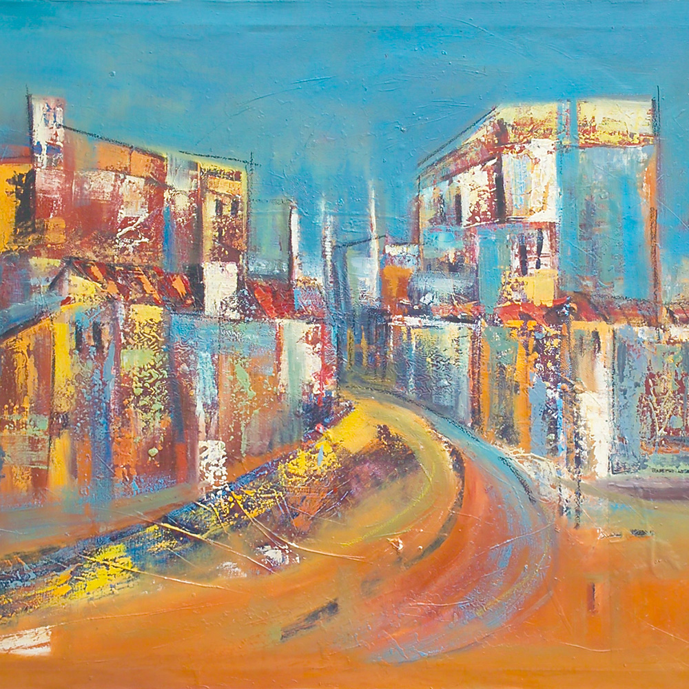 David Chinyama: painting Modern city