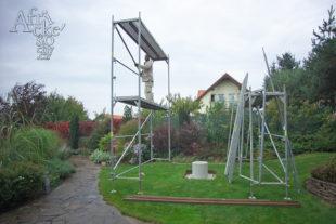 Jak instalovat sochu - druhé patro lešení