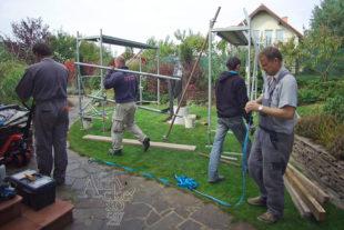 Jak instalovat sochu - rozebrat lešení