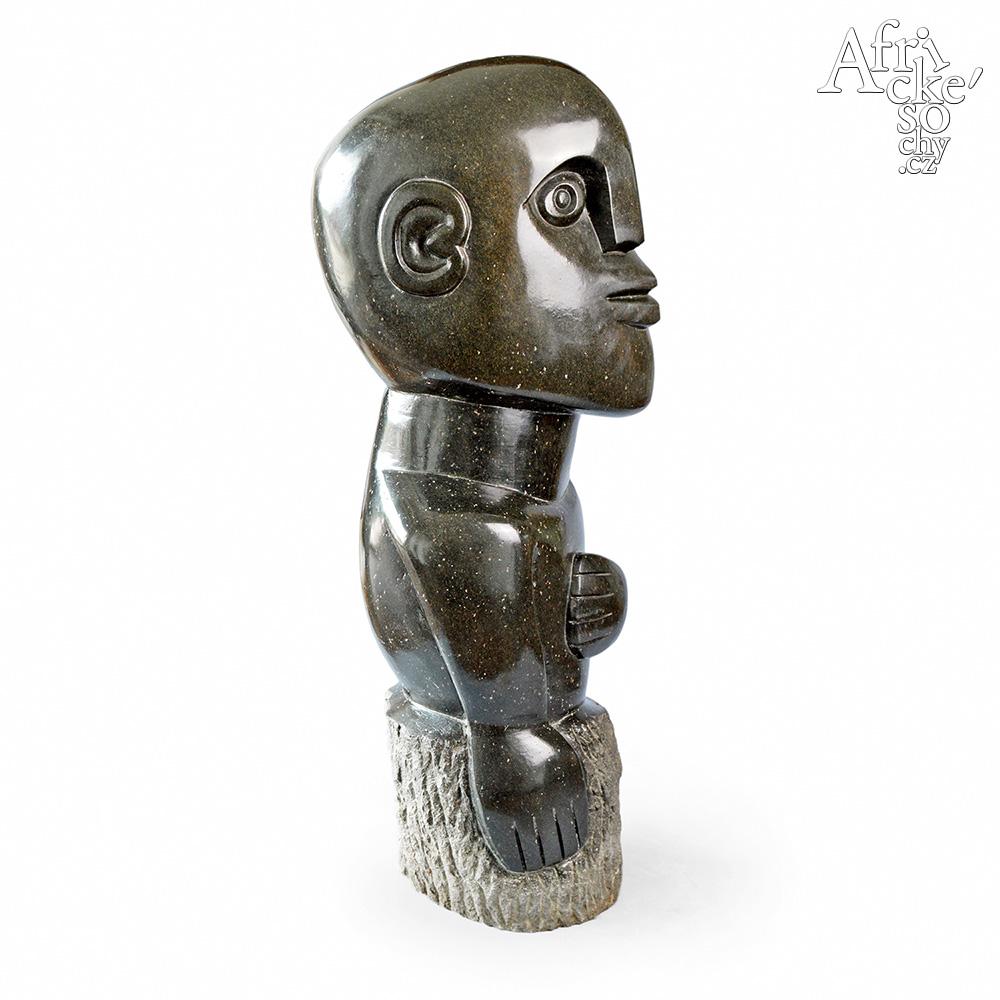 Davison Chakawa: sculpture Happy man