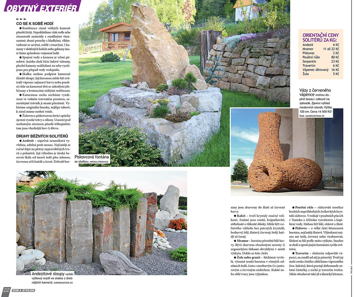 Kamenné prvky - sochy v zahradě