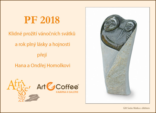 PF 2018 přejí Hana a Ondřej Homolkovi