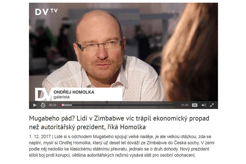 Ondřej Homolka rozhovor pro DVTV