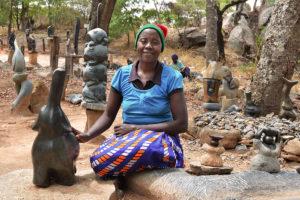 Sochařka Angasa Amali a jeji socha
