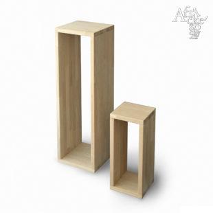 Podstavec pro sochu - dubová spárovka bez povrchové úpravy