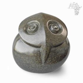 Kamenné sochy na prodej, sochy do zahrady či interiéru, socha Načepýřená sova