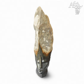Kamenné sochy na prodej, sochy do zahrady či interiéru, socha Dívka s vysokým účesem