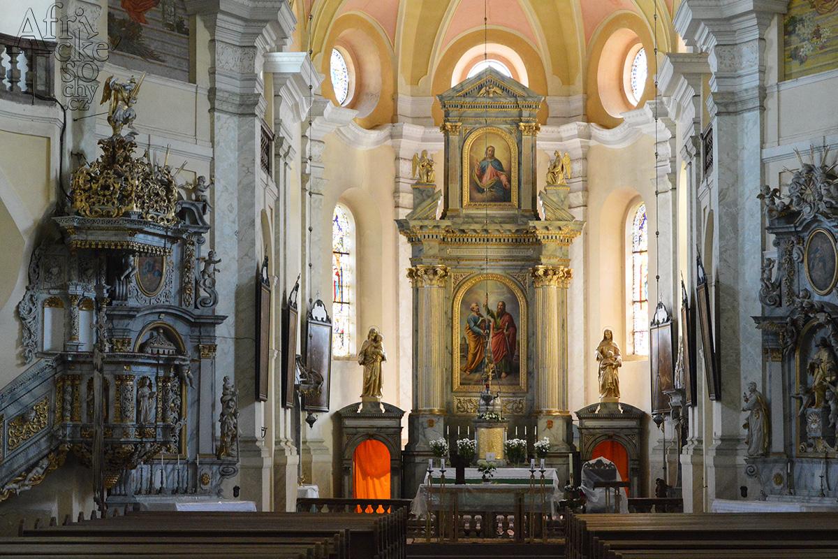 Mnichovské hadce - kostel Petra a Pavla v Mnichově