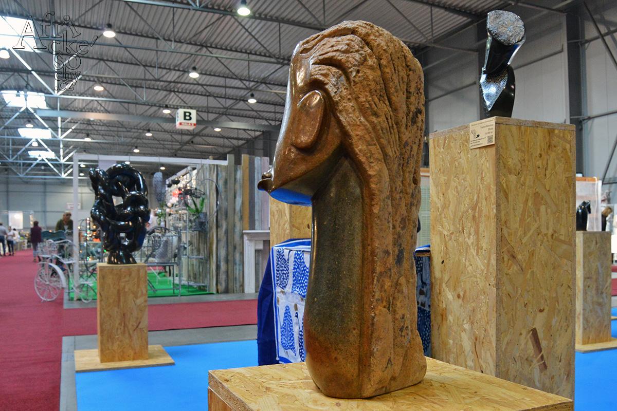 Africké sochy na veletrhuFOR DECOR & HOME podzim 2019