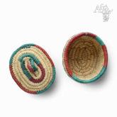 Ručně pletený koš s víkem z africké trávy