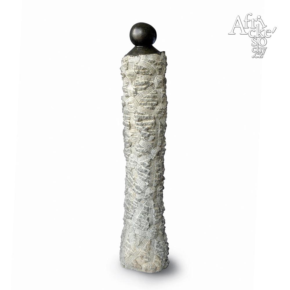 December Mbonge: socha Dívka | Kamenné sochy na prodej